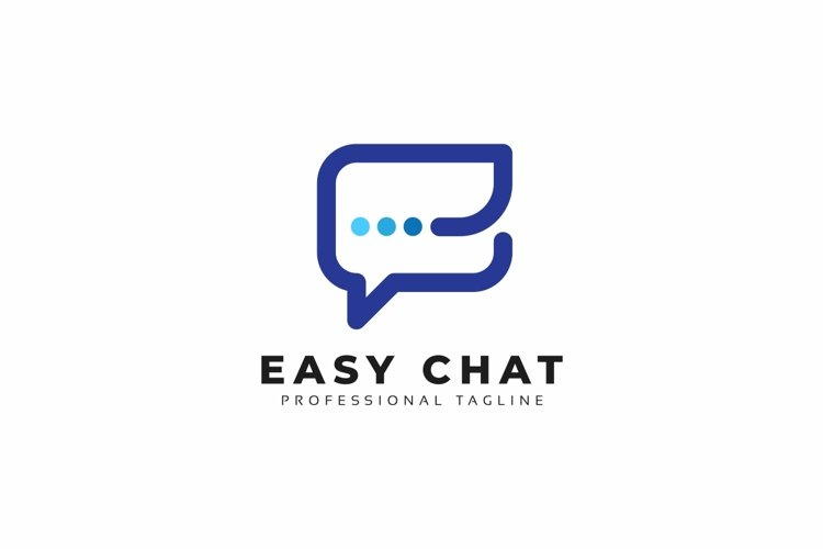 Easy Chat E Letter Logo example image 1