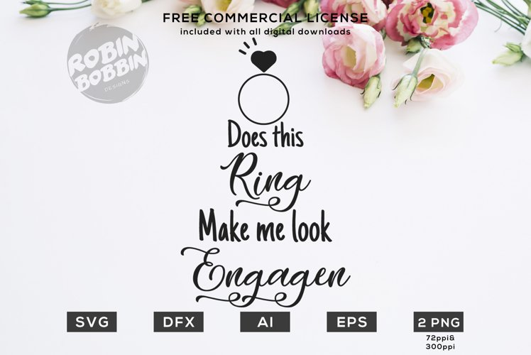 Does This Ring Make Me Look Engaged? Design for T-Shirt example image 1