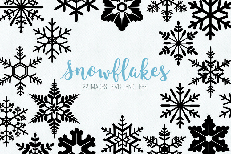 Snowflakes clipart SVG eps png example image 1