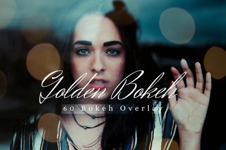 60 Golden Bokeh lights Effect Photo Overlay, Wedding Overlay example image 1