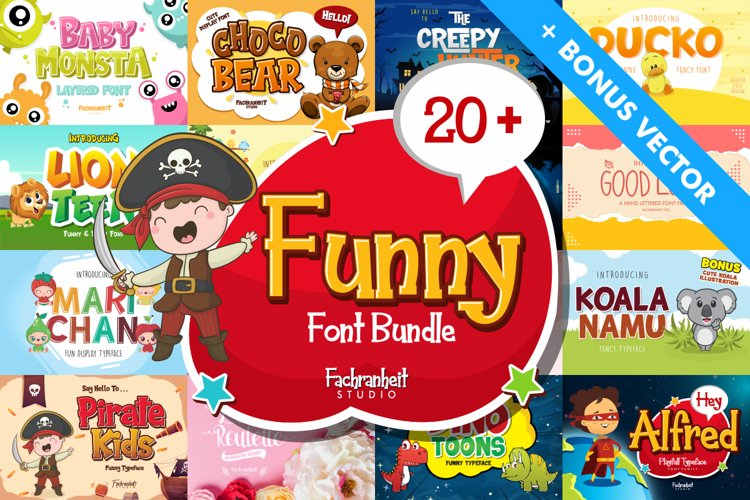 The Funny Font Bundle example image 1