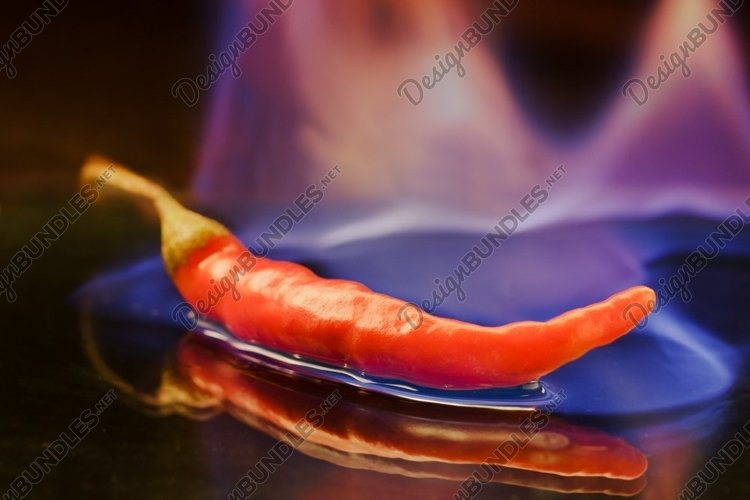 Red hot chilli burning pepper example image 1