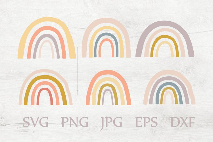 Rainbow Vector Set. Baby Cliparts. SVG PNG EPS JPG DXF