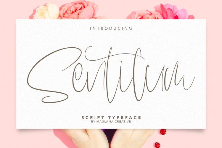 Sentilum Script Calligraphy Handmade Font Typeface example image 1