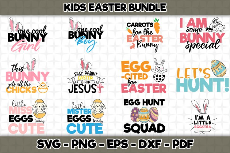 Kids Easter SVG Bundle - 12 Designs Included - SVG Cut File