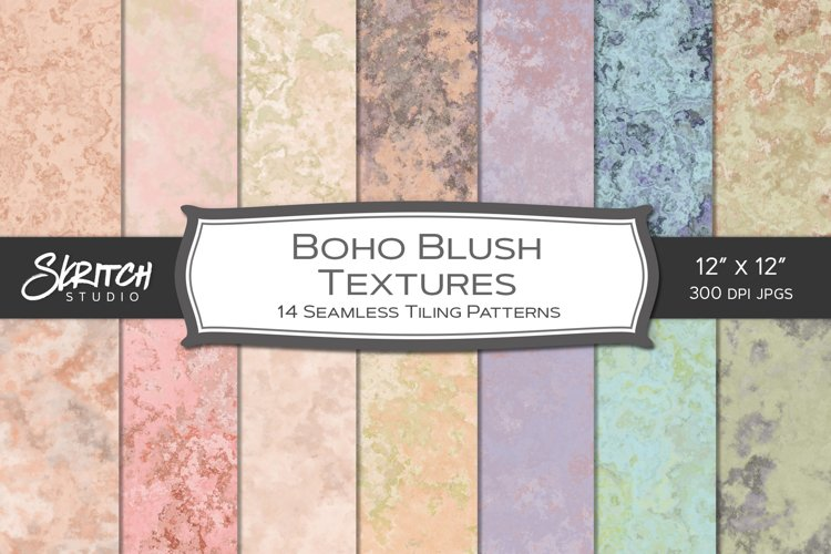 Boho Blush Seamless Textures 14 Tileable Digital Papers