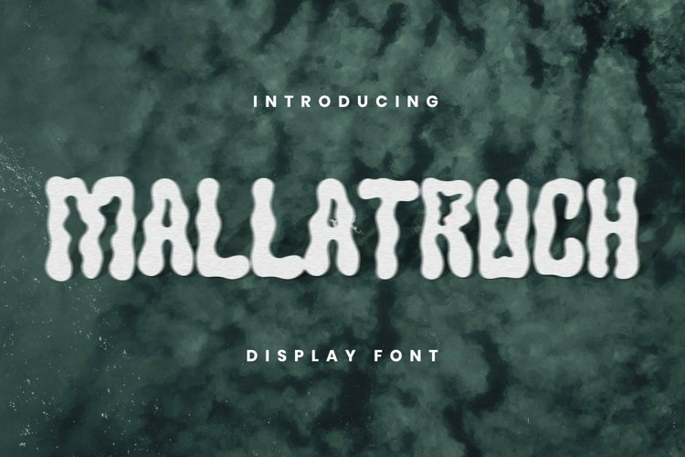 Web Font MALLATRUCH Font example image 1