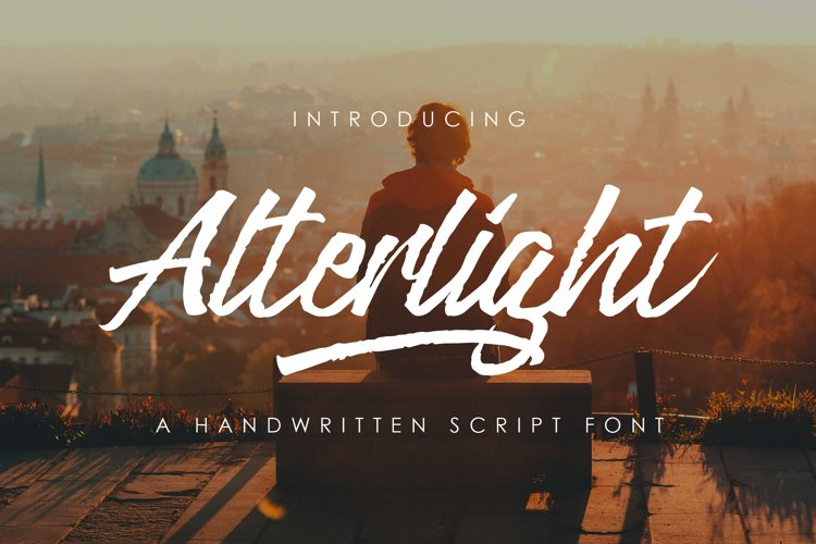 Alterlight - Free Font example