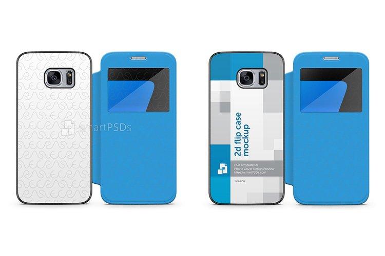 Samsung Galaxy S7 PU Flip Mobile Case Design Mockup 2016 example image 1