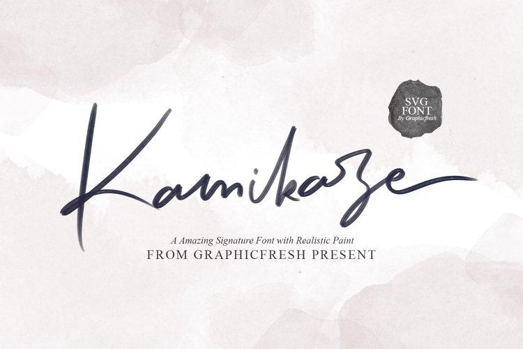 Kamikaze SVG Font example image 1