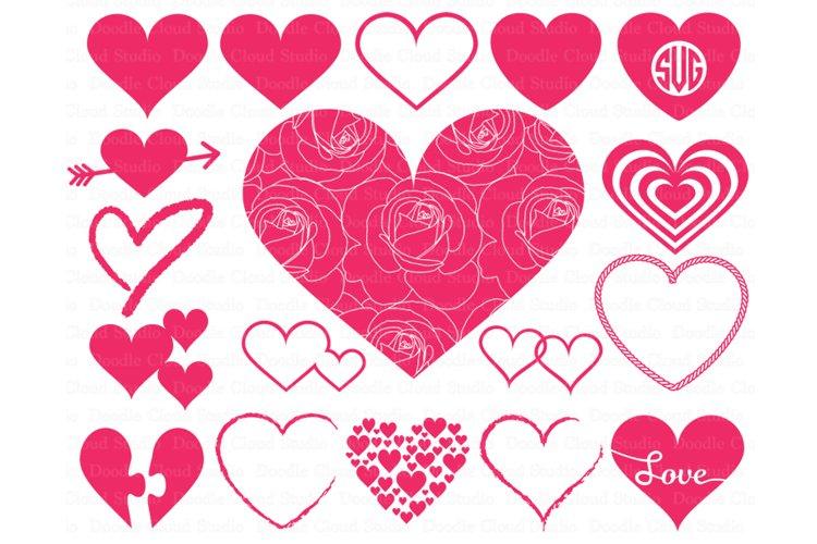 Heart svg, Heart Monogram SVG files. Valentine Day svg. example image 1