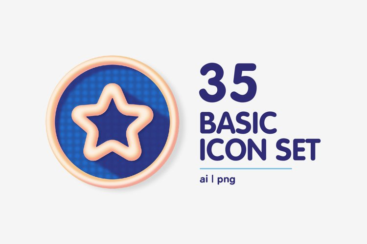 Colourful Basic Interface Icon Set