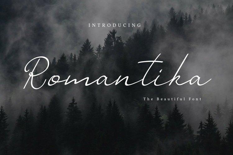 Web Font Romantika Font example image 1