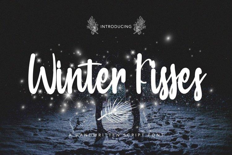 Web Font Winter Kisses - Handwritten Script Font example image 1