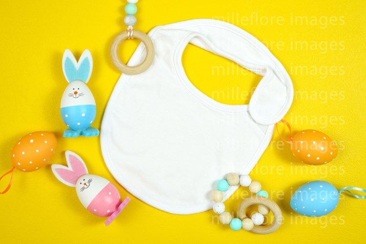 Easter Baby Bib Mock Up Styled Stock Photo SVG Design Mockup