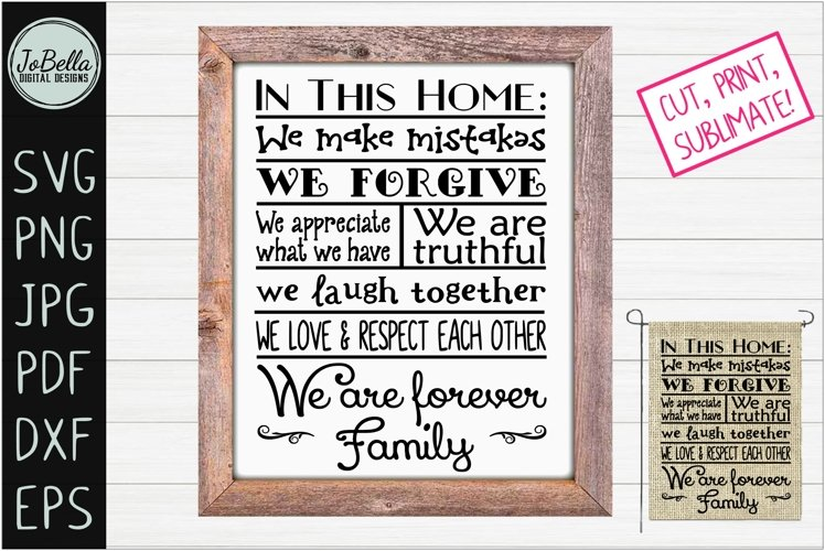 House Rules Farmhouse SVG, Printable and Sublimation PNG example image 1