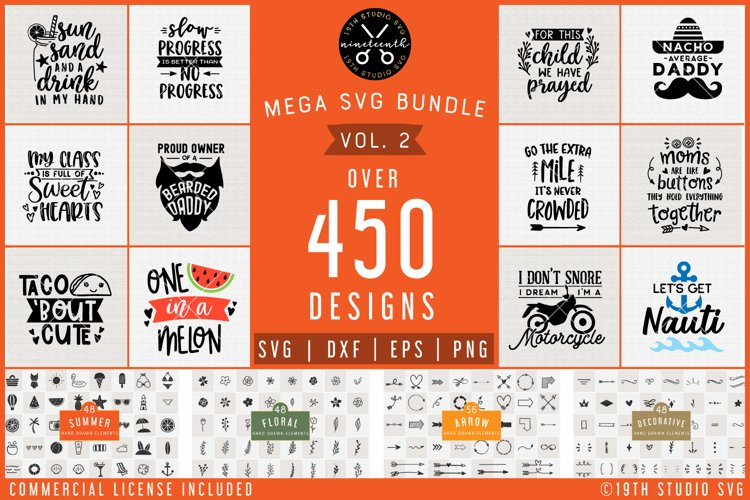 SVG Bundle | Mega SVG Bundle Vol.2 | SVG DXF EPS PNG | MG2