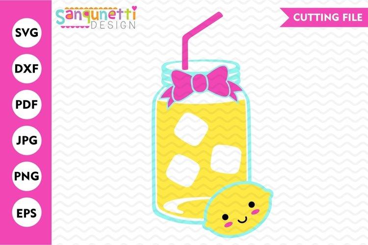 Lemonade SVG, summer drink cut file example image 1