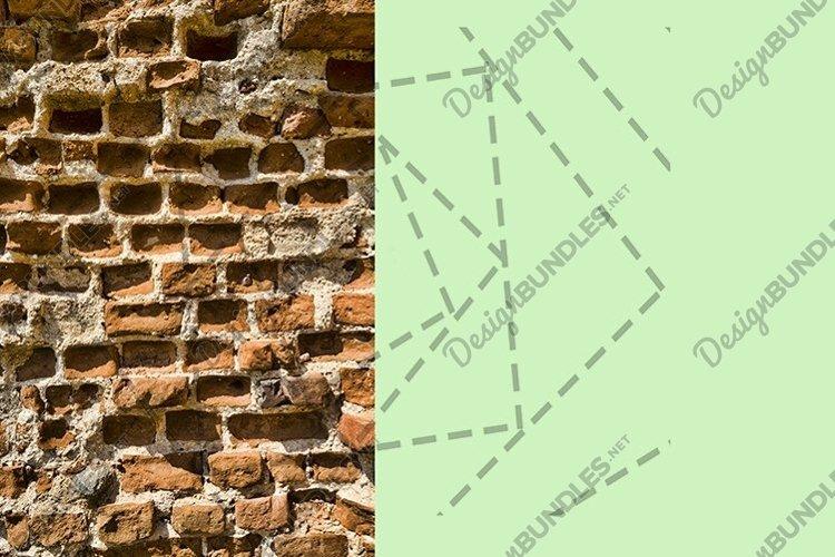 crumbling old brick wall example image 1