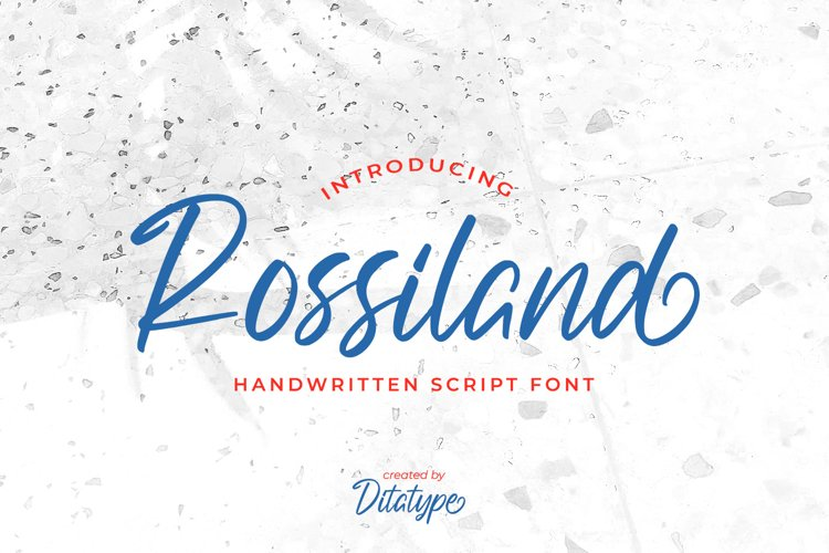 Rossiland-Beautiful Handwritten Font example image 1