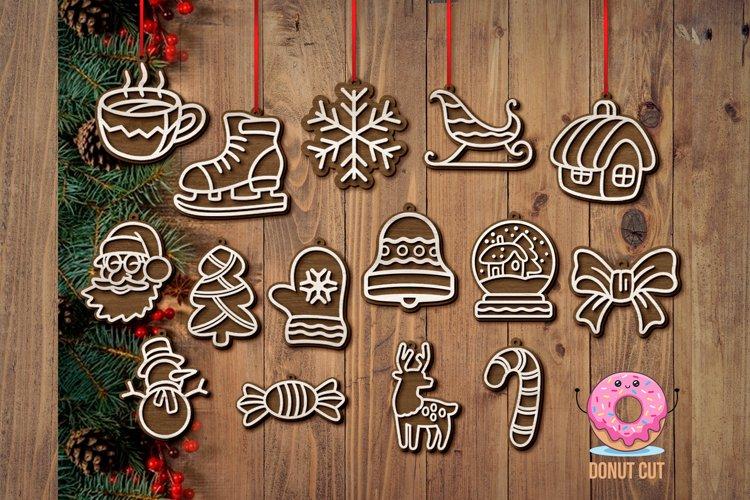 Christmas tree toys laser cut files SVG for Glowforge Cricut
