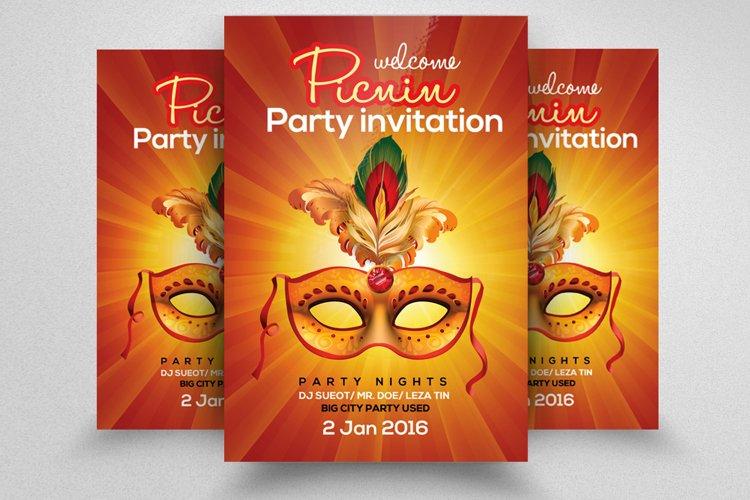 Mardigras Masquerade Party Flyer example image 1
