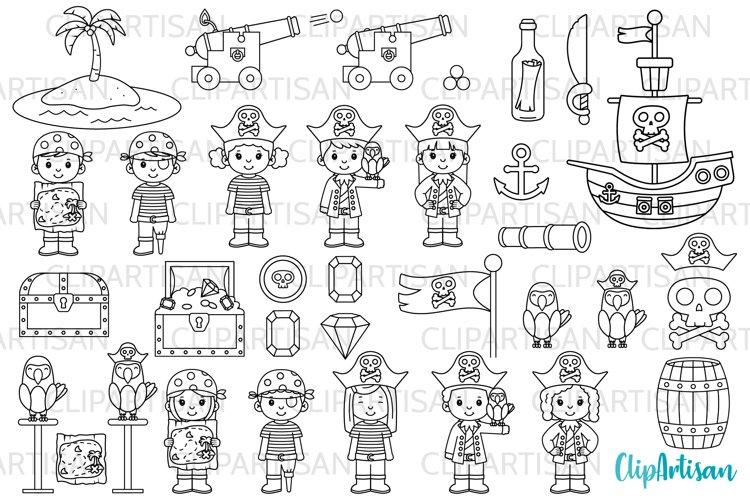 Pirate Clip Art, Pirates, Pirate Digital Stamps example image 1