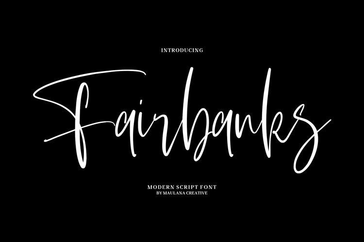 Fairbanks - Modern Script Font example image 1