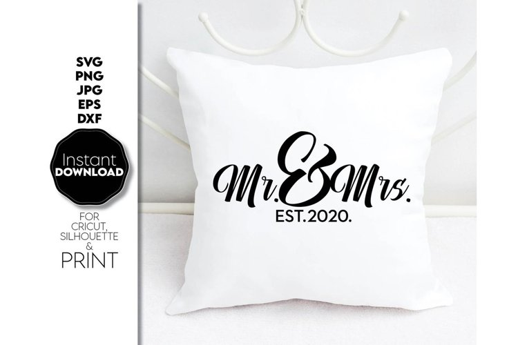 Wedding svg file, Mr and Mrs SVG, Just Married Shirts example image 1
