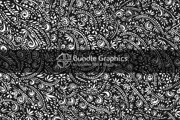 Decorative Nature Background - Black Pen & Ink Handmade Graphics example image 1