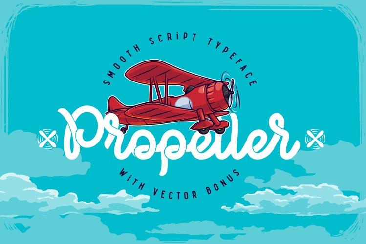 Propeller font illustration example image 1