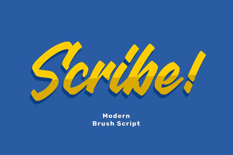 Scribe Brush Script Font example image 1