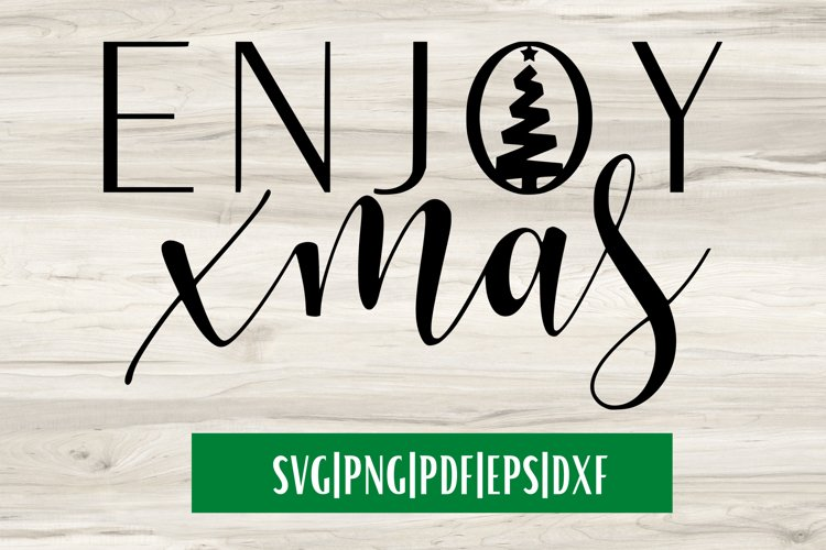 Enjoy Xmas SVG| Christmas SVG example image 1