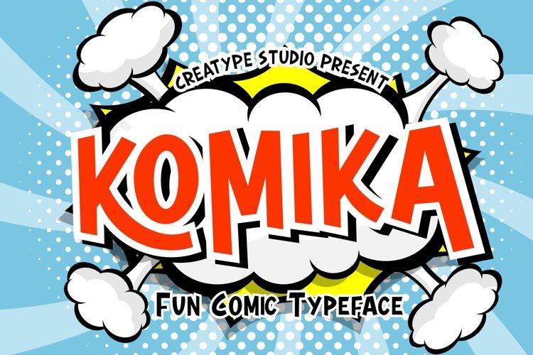 Komika Fun Comic Typeface example image 1