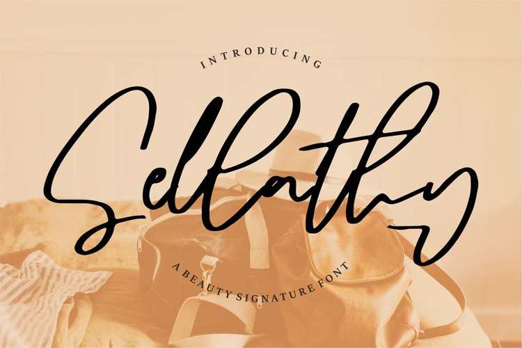 Sellathy   A Beauty Signature Font example image 1