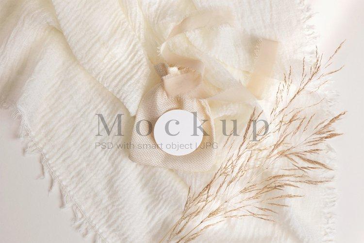 Wedding Tag Mockup,Round Label,Label Mockup