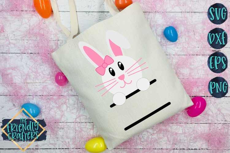 Girl Bunny Name - An Easter Cut File example image 1