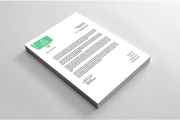 Professional business letterhead design example image 1