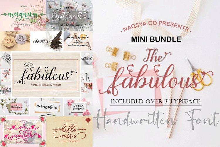 MINI BUNDLE - The fabulous - HANDWRITTEN FONTS example image 1