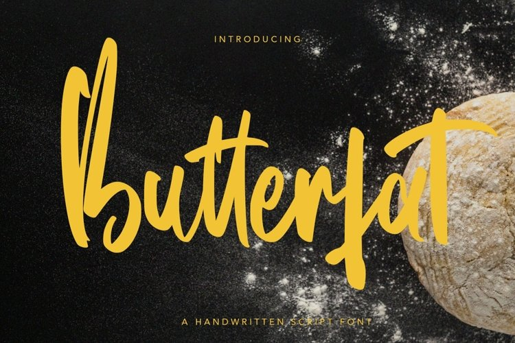 Web Font Butterfat - Handwritten Script Font example image 1