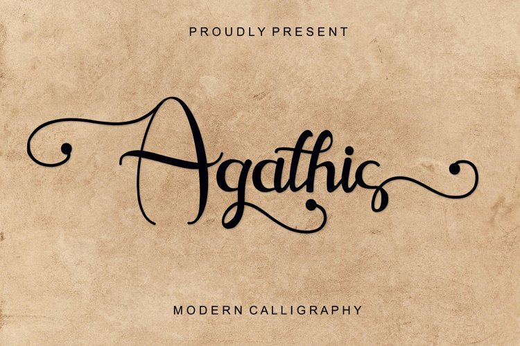 Agathis - Modern Calligraphy example image 1