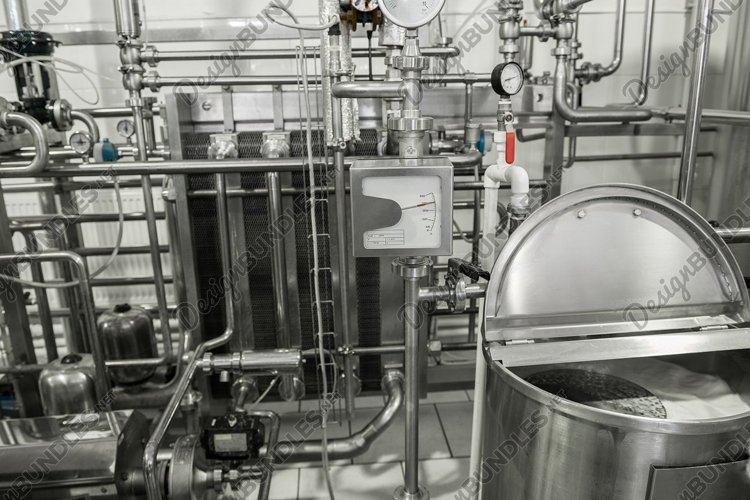 Storage and pasteurization tank at the milk factory example image 1