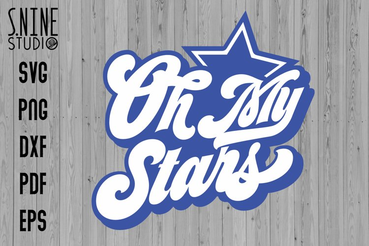 Oh My Star 4th July Independence Day Sublimation SVG example image 1