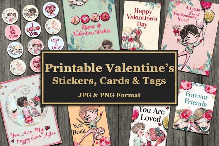 Valentine's Cards, Stickers & Tags example image 1