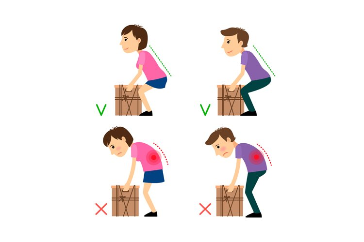 Incorrect and Correct posture while Weight Lifting example image 1