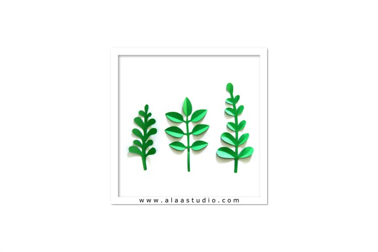 3D Large/ small flowers leaves vines set 4, SVG, PDF, SILHOUETTE STUDIO Formats