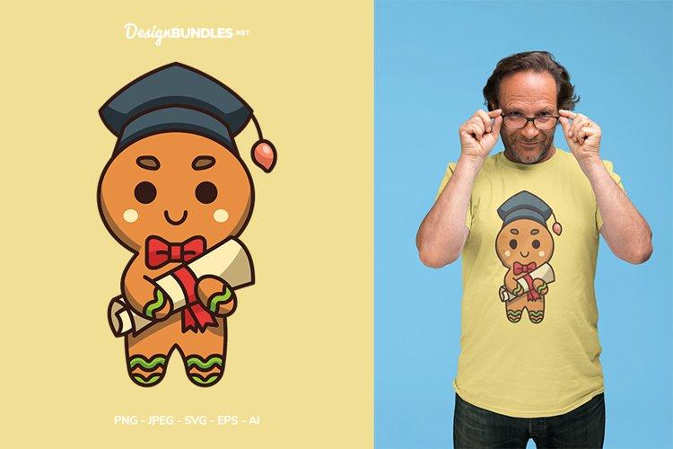 Gingerbread Graduation Vector Illustration For T-Shirt Desig