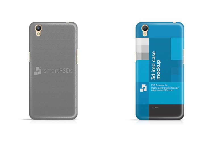 Oppo A37 3d IMD Mobile Case Design Mockup 2016 example image 1