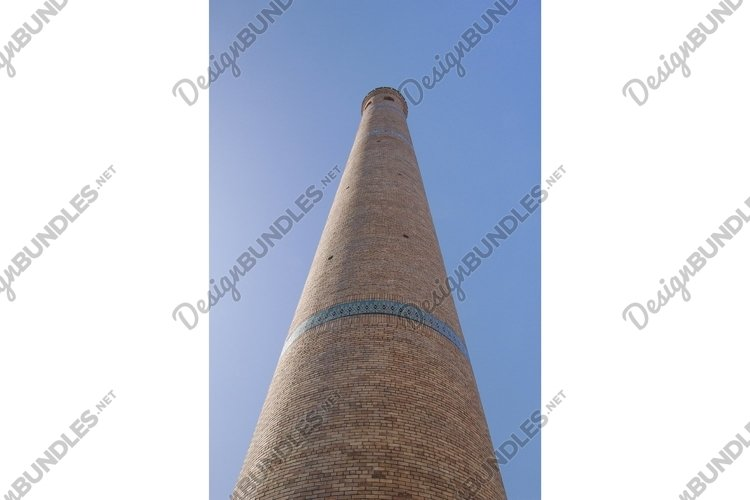 High oval tower. Ancient architecture of Central Asia example image 1