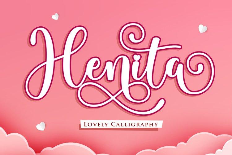 Henita - A lovely Script Fonts